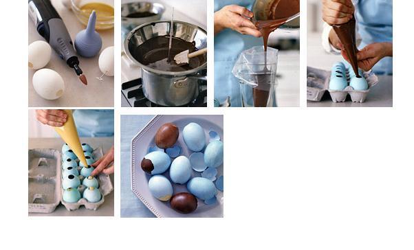 как сделать шоколадные яйца