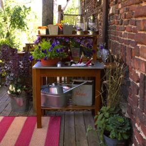 переносная кухня или мини-бар на даче
