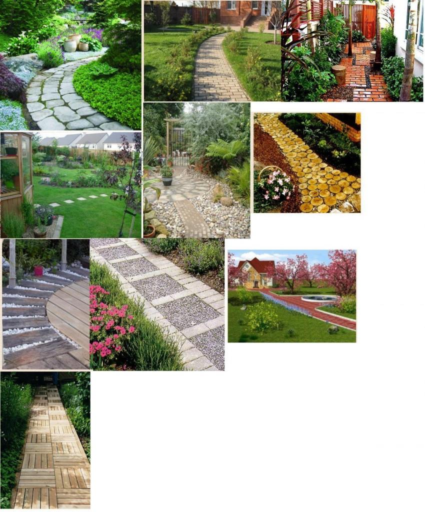 примеры садовых дорожек