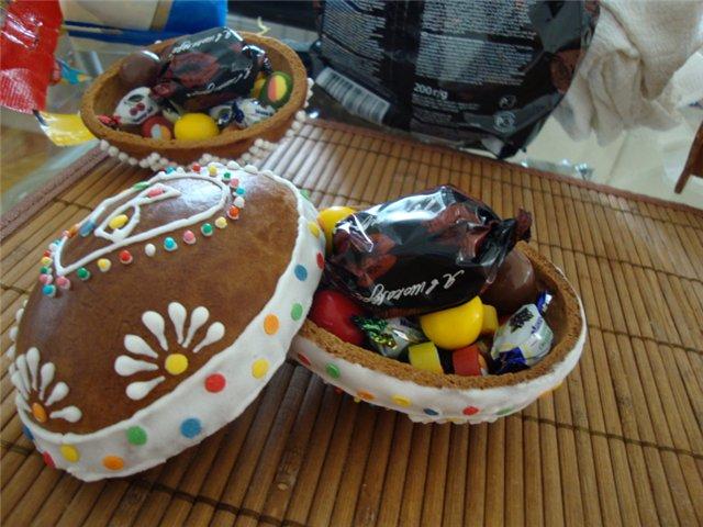 Пасхальные пряничные яйца