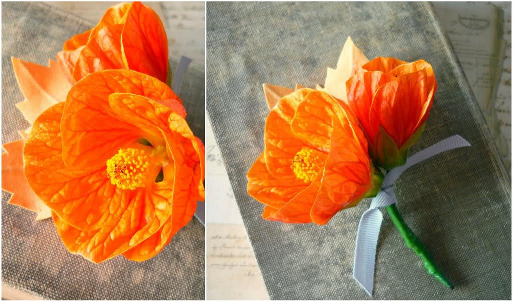 цветочная бутоньерка своими руками