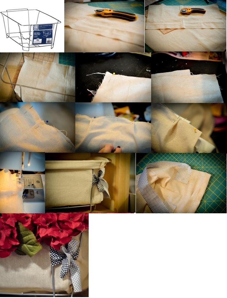 процесс изготовления корзины
