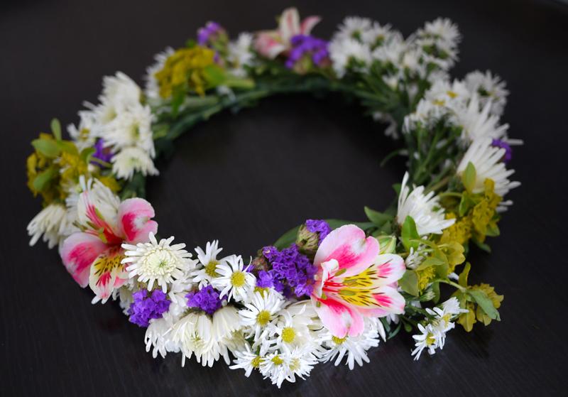 Венок их цветов своими руками