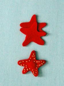звезды из фетра