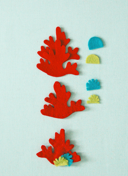 Кораллы из фетра выкройка