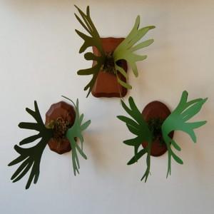 Декоративные рога из бумаги