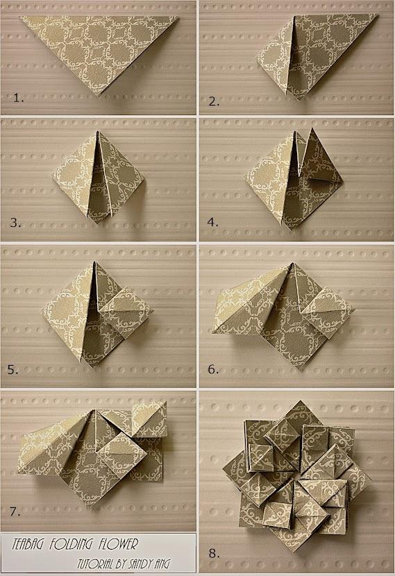 Оригами на открытку цветы 394