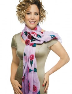 декорируем шарф
