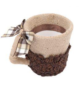 Украшение кофейными зернами