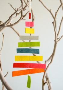 необычная и простая елка из фетра