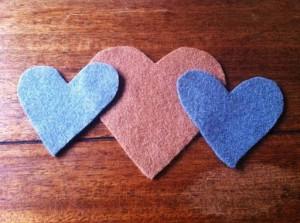 Фетровое сердце