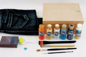 Материалы для украшения коробки
