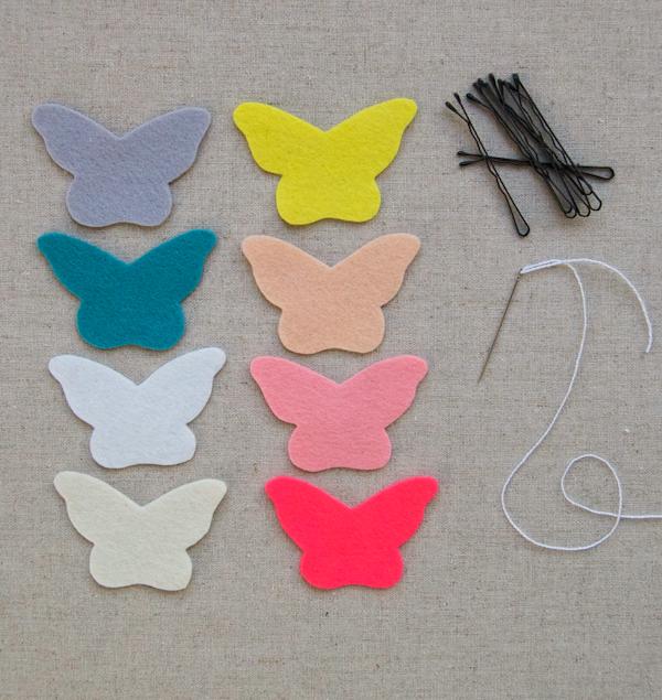 Бабочки из фетра фото