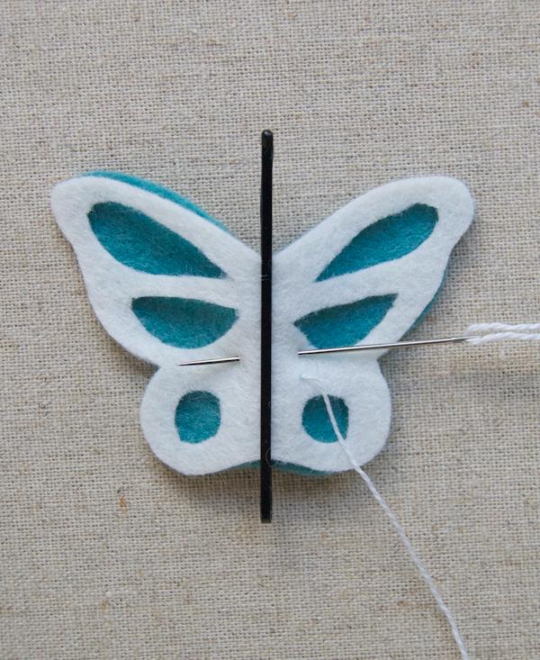 Брошь бабочка своими руками