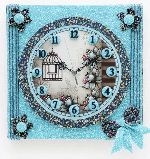 Декупаж новогодние часы своими руками