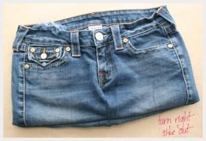 Легкая сумка из джинсов