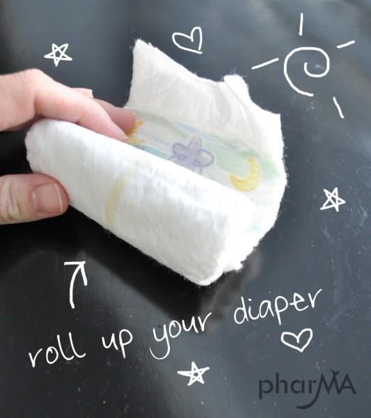 Как сделать подарок из подгузника