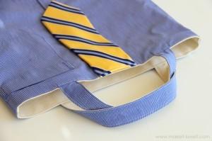 Как сшить сумку из рубашки