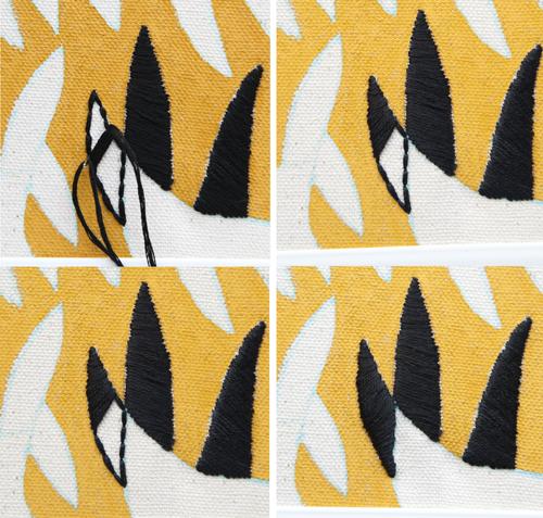 Украшение ткани вышивкой