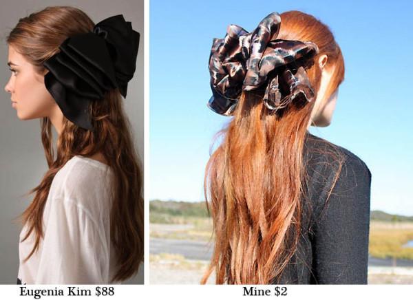 Бант-заколка для волос