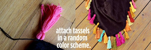 Как украсить шаль