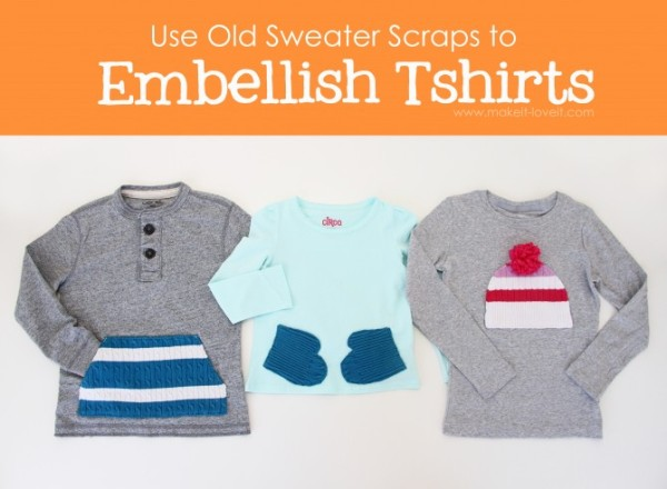 Украшение одежды деталями свитера