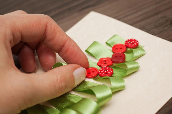Как украсить новогоднюю открытку