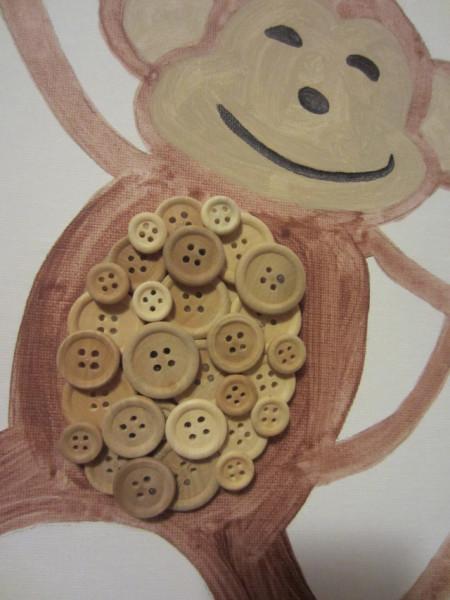 Как сделать обезьянку из пуговиц
