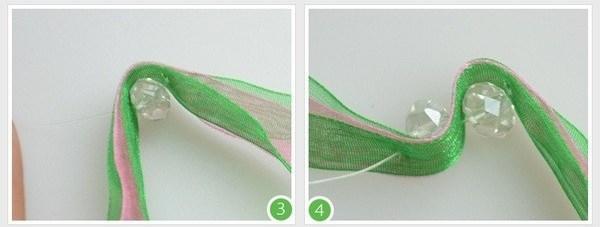 Как сделать из лент браслет