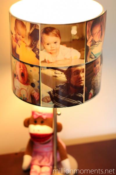 Как украсить абажур фотографиями