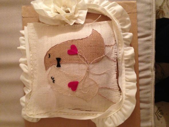 Свадебная подушка своими руками