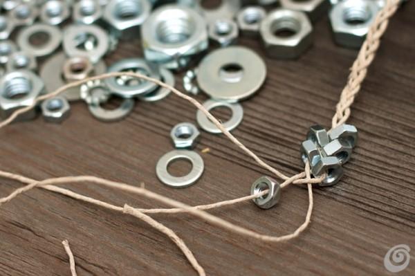 Как сделать браслет из гаек