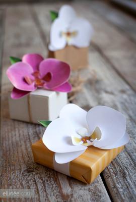 Декоративные орхидеи из бумаги