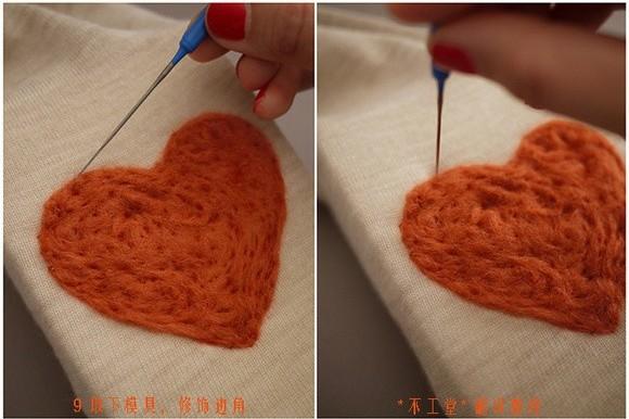 Как украсить одежду шерстью