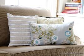 Украшение диванной подушки