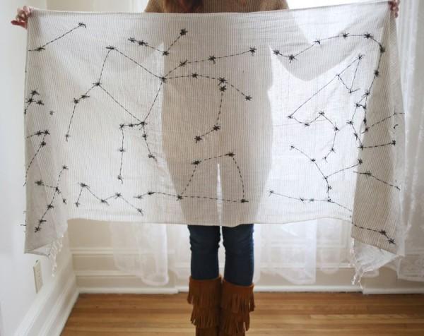 Как быстро декорировать шарф