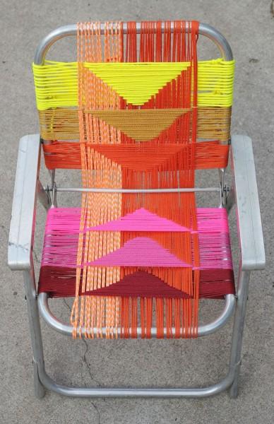Самодельный дачный стул