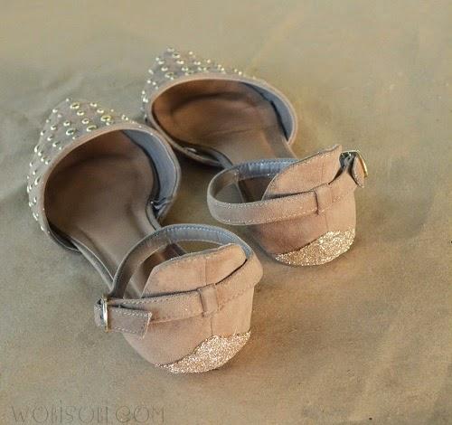 Декор износившихся туфлей