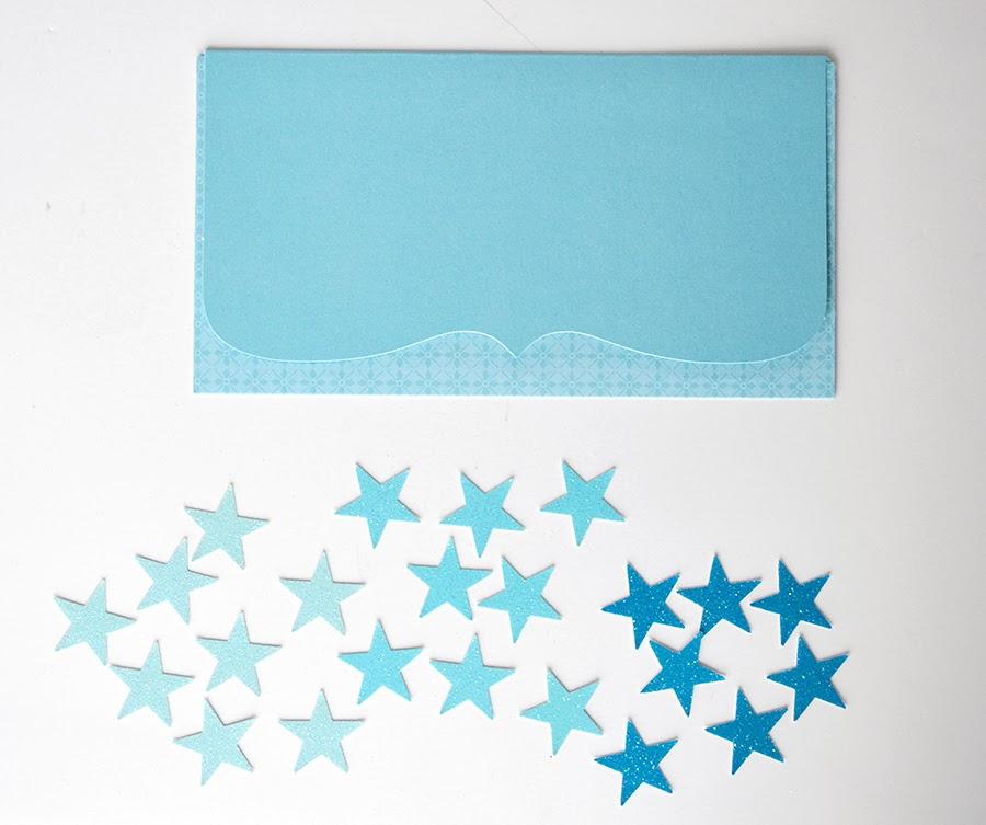 Синий конверт своими руками