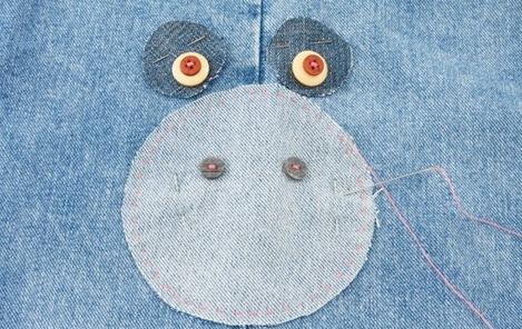 Подушка-поросенок из джинса