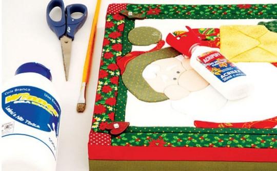 Новогодняя коробка хендмейд