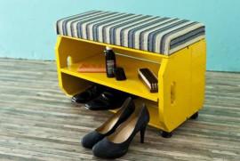 Полочка для обуви из старого ящика