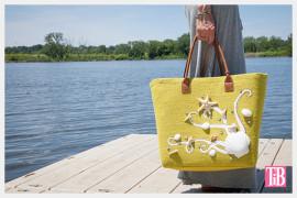 Украшение сумки в морском стиле
