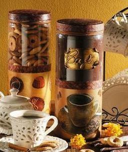 Украшение баночки для кофе