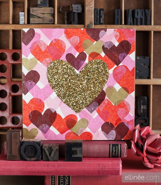 Оригинальное панно ко Дню Валентина