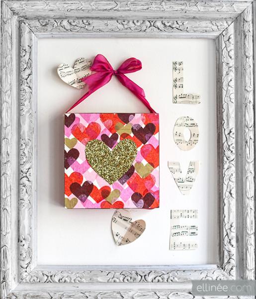 Валентинка на стену хендмейд