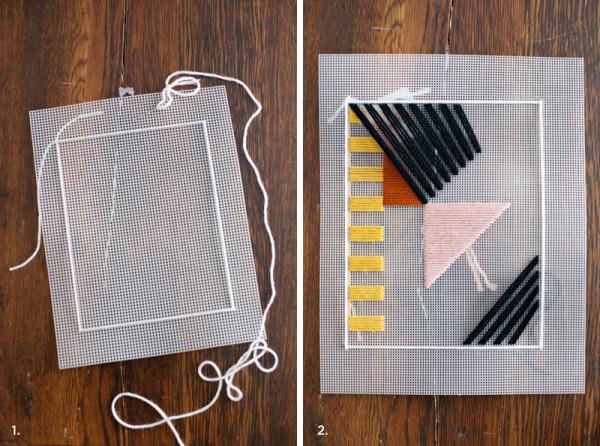 Модное панно с геометрическим рисунком