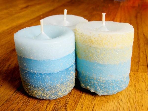 Свечи из песка