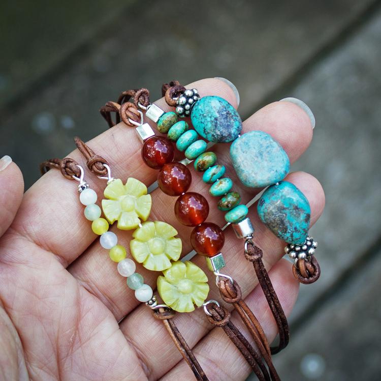 Браслет из бисера и натуральных камней своими руками