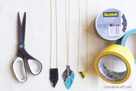 DIY-Kids-Easy-Crafts-How-To-Make-Project-Idea-Duct-Tape-Recycled-Jewelry-Necklace-Accessories